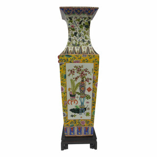 Chinese imperial yellow vase