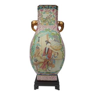 Chinese Elephant Handle Vase