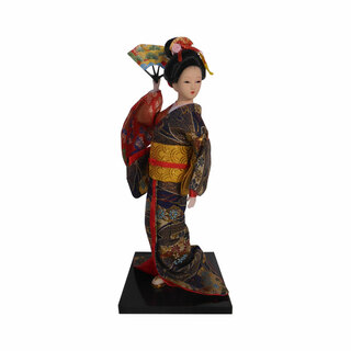 Oriental Doll with Fan from Oriental Furnishings