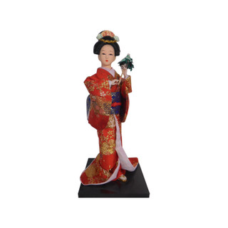 Asian Doll with Umbrella by Oriental Furnishings