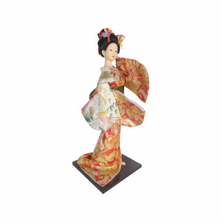 "16""H Geisha Fan Dancer Doll"