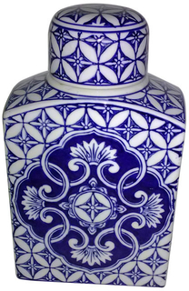 Blue and White Tea Jar