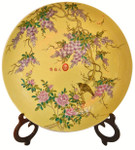 Imperial Yellow Porcelain Charger