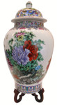Chinese Floral Temple Jar