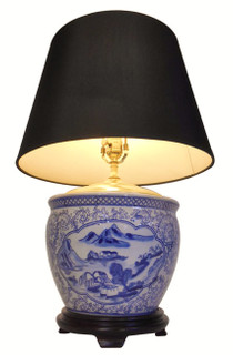 Blue and White Porcelain Bowl Table Lamp