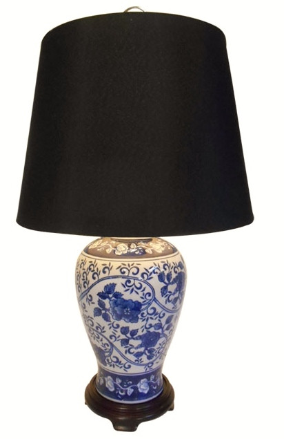 Table Lamp In Chinese Porcelain With Blue And White Floral 24 H Oriental Furnishings Furniture Decor,Baby Shower Flower Arrangements