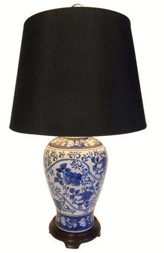 Blue and White Porcelain Table Lamp