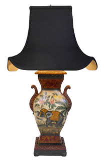 Asian Raj Elephant Table Lamp
