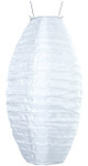 "White 15"" Oval/Oblong Nylon Paper Lantern"