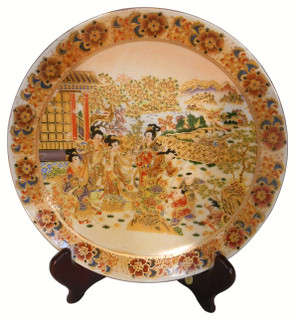 "10"" Satsuma Plate with stand"