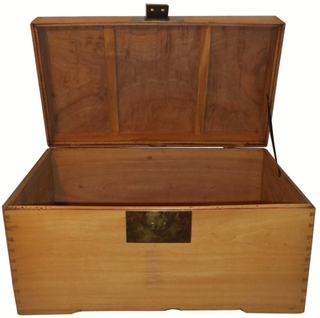 Camphor wood storage chest
