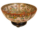 Rose Medallion Table Bowl With Stand