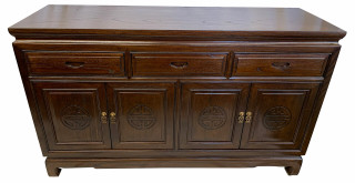 "Solid Rosewood Long Life Carved Buffet available in 60"" and 72"""