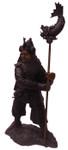 Bronze Japanese Warrior with Staff