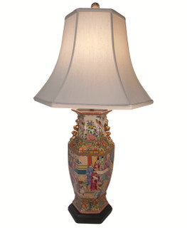 "32"" H. Rosemedallion table Lamp"
