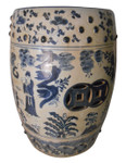 "18"" H. Blue and White Porcelain Garden Stool"