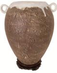 """10""""H. Earthen Porcelain Vase"""