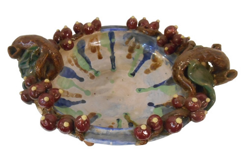 Hand Carved Ceramic Table Bowl.