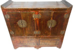 "44"" W. Antique Chinese Chest with Wing Top"