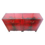 China red lacquer entertainment cabinet
