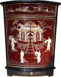 Round Front Mother Of Pearl Cabinet