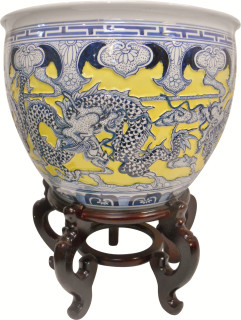 Carved Chinese Fishbowl
