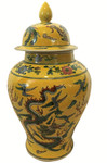 Chinese yellow dragon jar