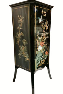 Modern Chinese Lacquer Chest Of Drawers