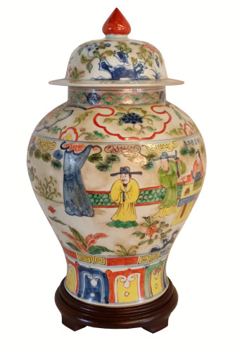 Chinese Jar in Famille Vert Style