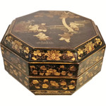 Oriental Box Gold Line Painted