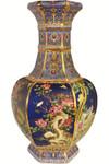 Asian Vase in Blue Cobalt Glaze