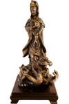 Chinese Statue Kuan Yin with Dragon