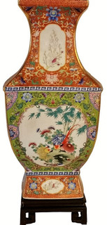 Chinese Square Porcelain Vase