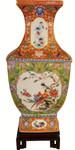 Chinese Square Porcelain Vase