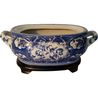 Oriental Furnishings Porcelain Table Bowl-PBGC9P16A