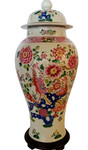 Chinese Porcelain Rose Jar