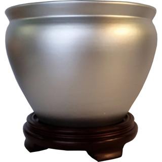silver porcelain planter pots