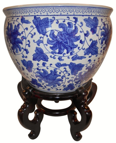 20 Quot Blue And White Large Porcelain Jardiniere For Indoor