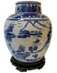 Blue and White  Chinese Jar