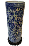 Blue and White Canister Vase