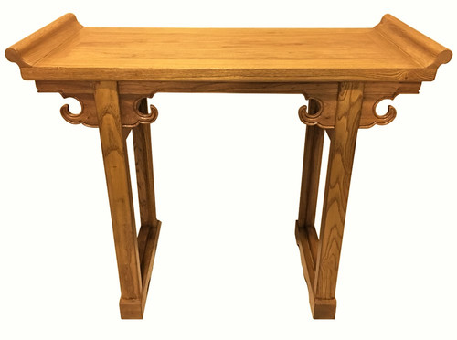 Elmwood Altar Table in Light Honey Color