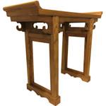 Elmwood Altar Table in Light Honey Color