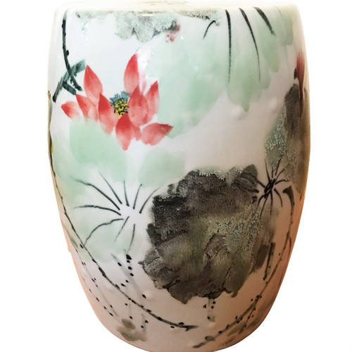 Chinese Floral Garden Stool