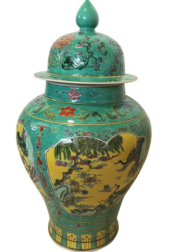 Chinese Jar in Turquoise Glaze