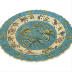 """Chinese Porcelain 18"""" Dia Plate"""