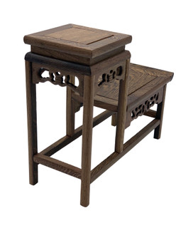 Chinese Wooden Display Stand For Miniatures