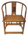 Chinese Chair With Rattan Seat