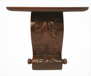 Wall Sconce Hand Carved  Wooden European Style Shelf