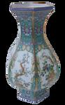 Teal Blue Chinese Porcelain Vase
