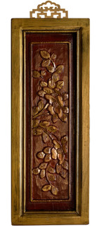 Chinese Antique Wall Panel Carved Florals